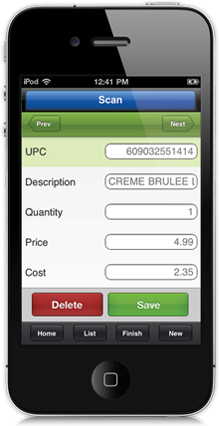 iPhone Inventory, Scanner, POS from CashierLive - :