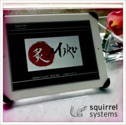 Squirrel Professional on Apple iPad at Miku Restaurant