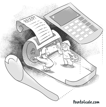 POS printer cartoon