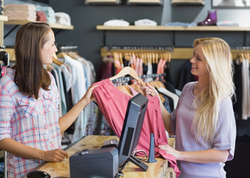 pointofsale customer buying shirt point of sale solution