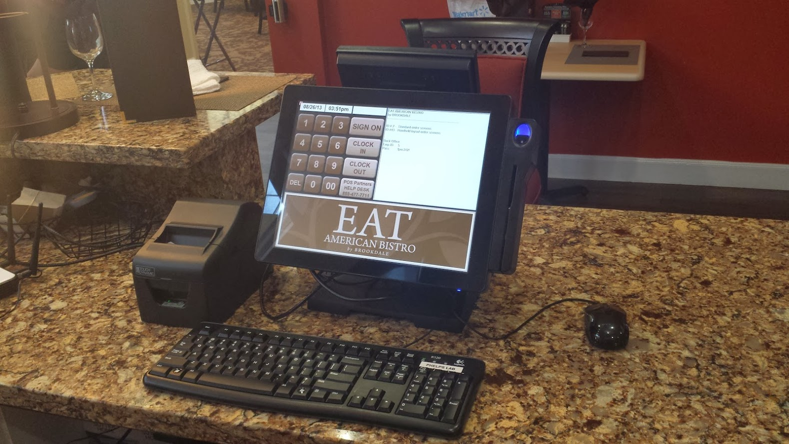Eat American Bistro POS station