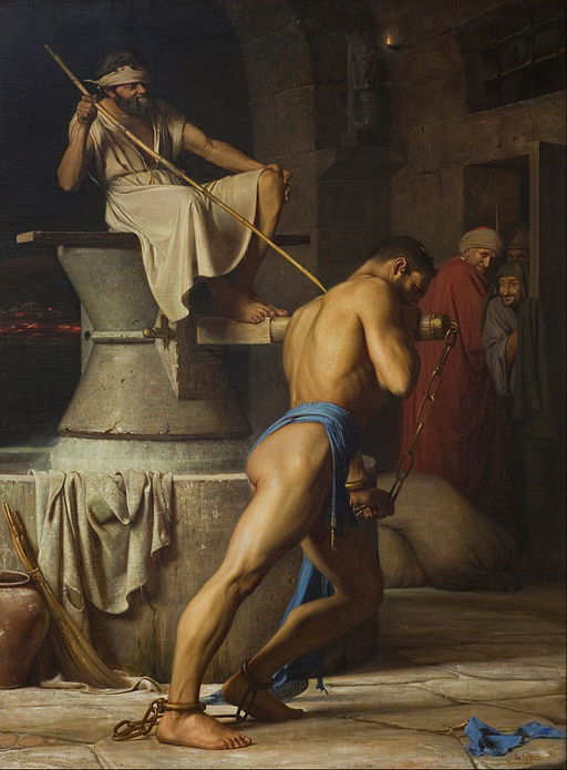 Carl Bloch Samson and the Philistines Google Art Project