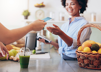 Pointofsale customer at checkout customer engagement